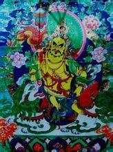 藏传佛教绘画:唐卡护法神