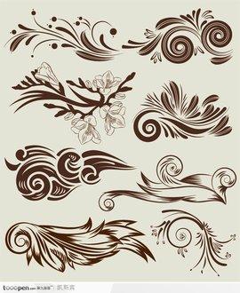 图案设计花卉变形