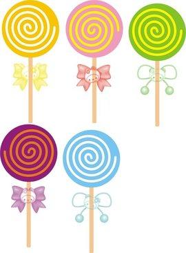 在非主流的图片里也常常看到这么可爱的波板糖…… 在路边的糖果店里