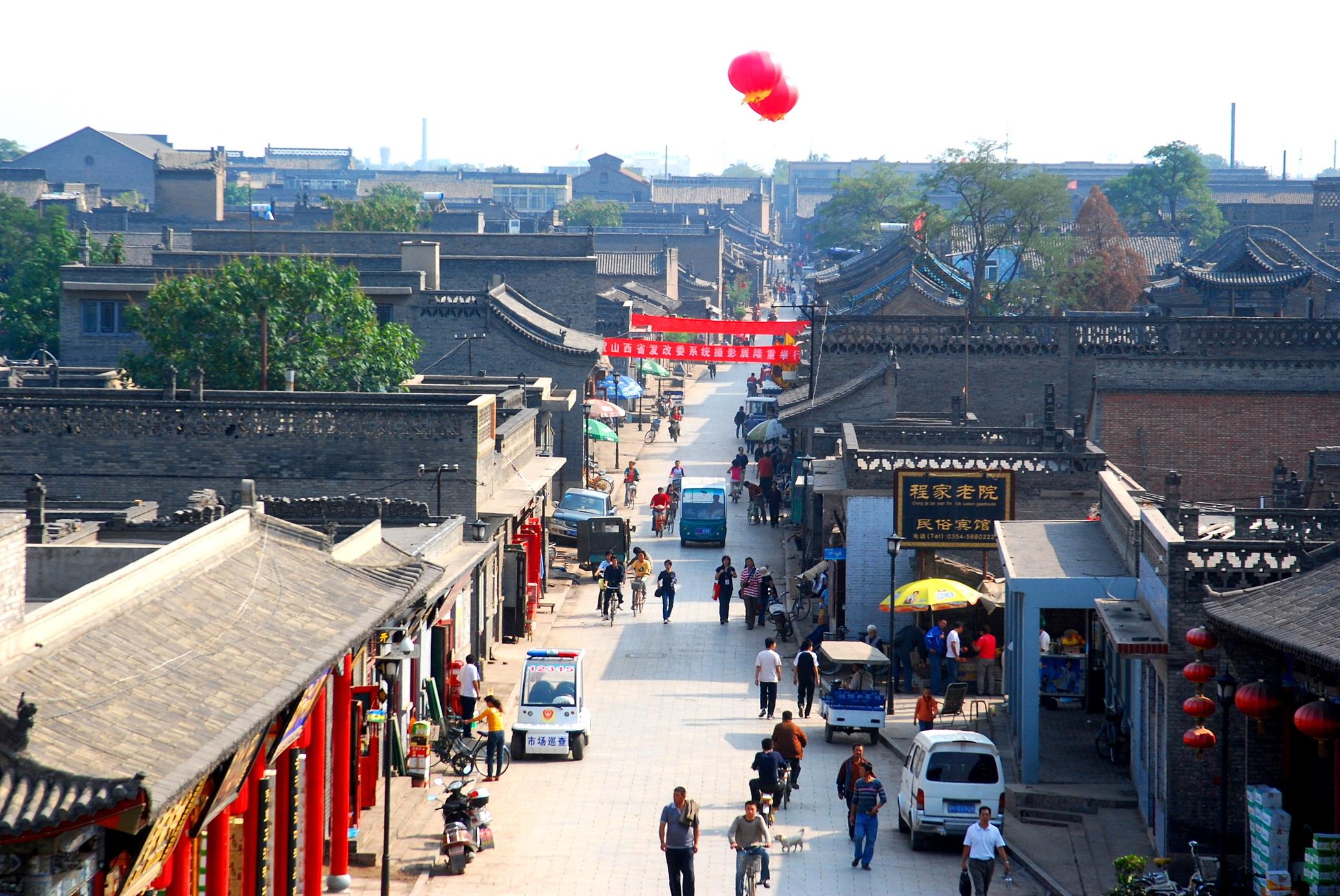中国古代街道 手绘