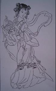 古代人物白描工笔画_白描手法_360百科
