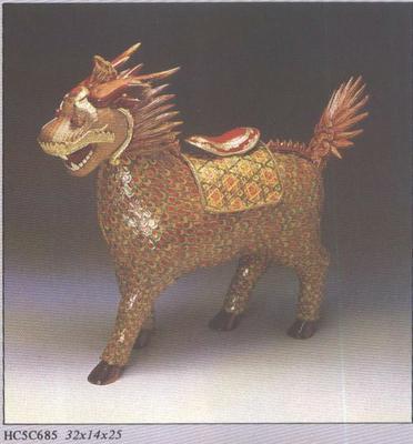 竹编动物手绘图