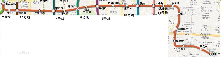 [1]北京地铁7号线在2009年开7号线线路图工,预计2013年12月建成通车.