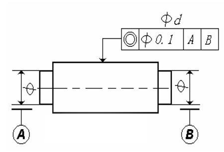 两个孔的公共轴心线是指两孔各自被测表面长度的中点连线;假使是三图片