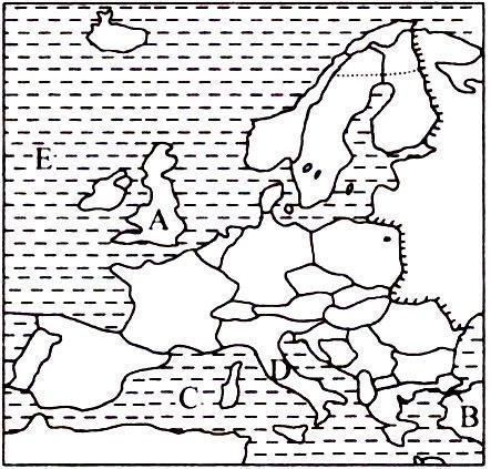 欧洲气候图手绘