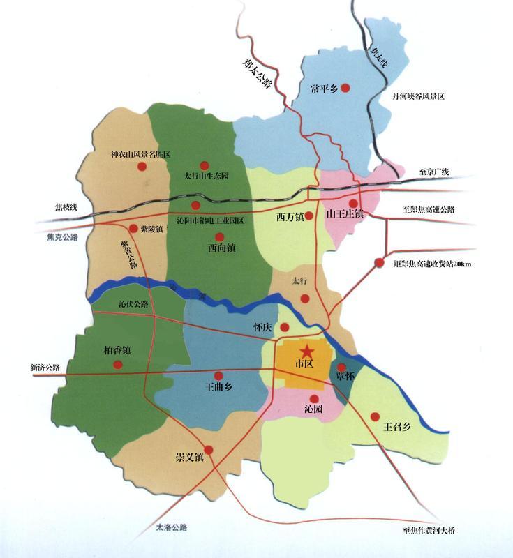 沁南产业集聚区规划图