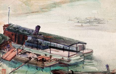他的水彩画技法亦纯熟多样,《变废为宝》这幅画便是集各种技法之大成