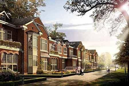 上层有屋顶花园,一般为四层带阁楼建筑,这种开间与联排别墅相比,独立