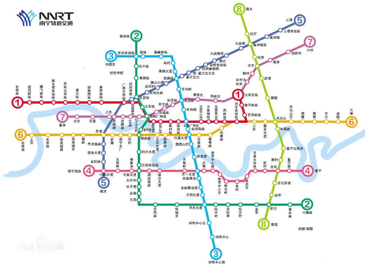 南宁五个地区地图全图