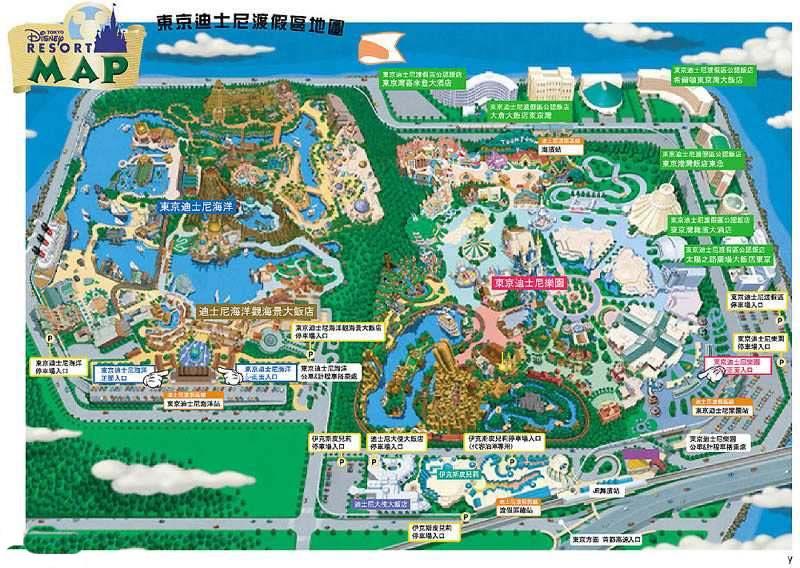 迪斯尼游乐园设计图展示