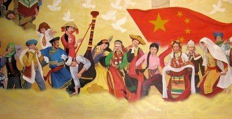 少数民族壁画 安阳文字博物馆设计图