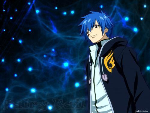 蓝色头发卡通人物