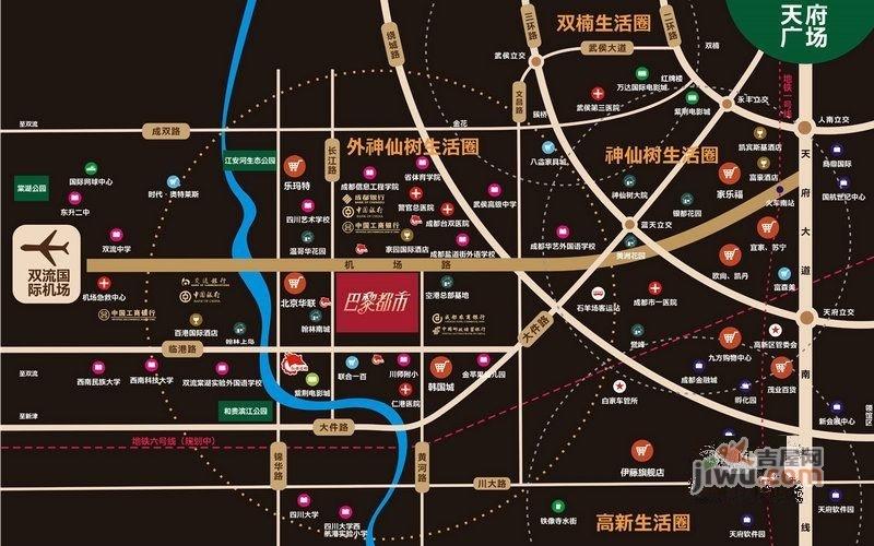 紫荆路街道线路图
