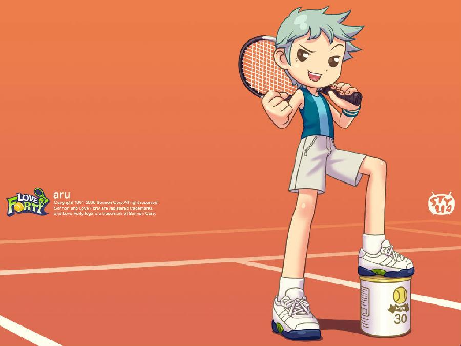 《love forty》是一款风格可爱的网球游戏,采用了类似家用机的用户