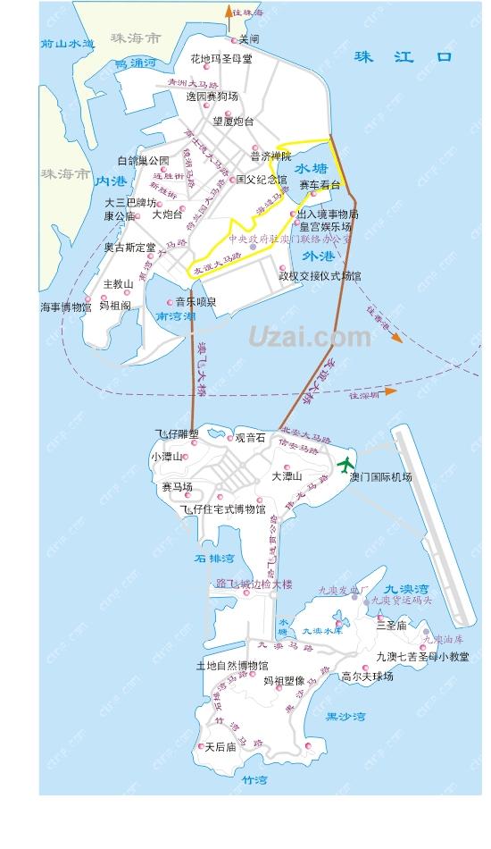 澳门地图矢量图