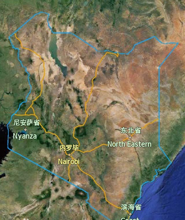 肯尼亚地图-最新erlinyou版