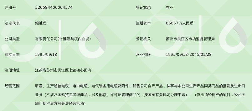江苏亨通电力电缆有限公司