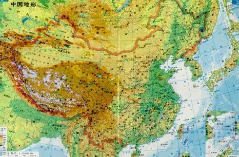 手绘地图 自然地理